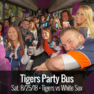 Tigers Party Bus | 8.25.2018 DET vs CHIWS